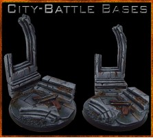 60mm City Battle Round Base C