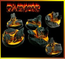 25mm Daemon Round Bases - Set of 5