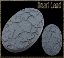 105 x 70mm Dead Land Oval Base A