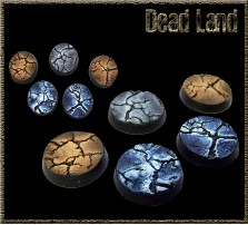 25mm Dead Land Round Bases - Set of 5