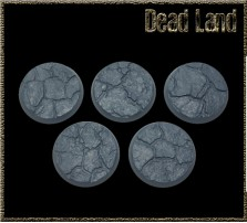 32mm Dead Land Round Bases - Set of 4