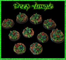 25mm Deep Jungle Round Bases - Set of 5