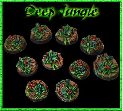 25mm Deep Jungle Round Bases - Set of 5