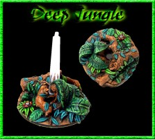 32mm Deep Jungle Flying Bases - Set of 2 - Without Stands