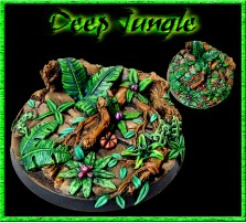 60mm Deep Jungle Round Base A