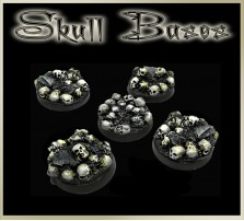 25mm Skull Round Bases - Set of 5