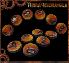 25mm Terra Mechanica Round Bases - Set of 5