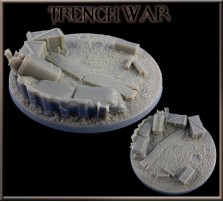 100mm Trench War Round Base A