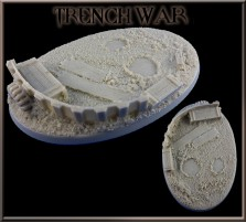 105 x 70mm Trench War Oval Base A