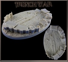 105 x 70mm Trench War Oval Base B