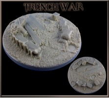 130mm Trench War Round Base A
