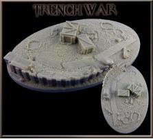 170 x 105mm Tranch War Oval Base A