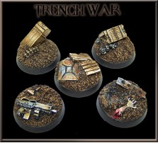 25mm Trench War Round Bases - Set of 5