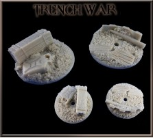 32mm Trench War Flying Bases - Set of 2 - Without Stands