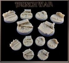 32mm Trench War Round Bases - Set of 4