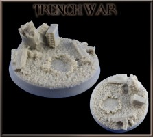 40mm Trench War Round Base D