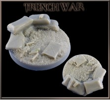 50mm Trench War Round Base A