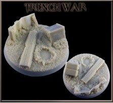 50mm Trench War Round Base B