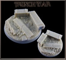 50mm Trench War Round Base C