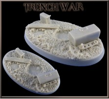 60 x 35mm Trench War Oval Base A