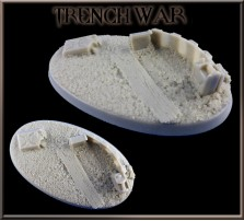 75 x 42mm Trench War Oval Base A