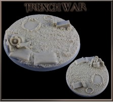 80mm Trench War Round Base A