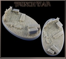 90 x 52mm Trench War Oval Base A