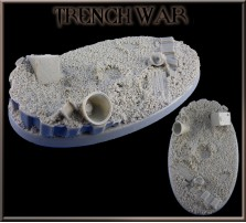 90 x 52mm Trench War Oval Base B