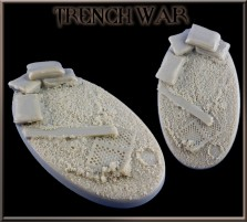 90 x 52mm Trench War Oval Base C