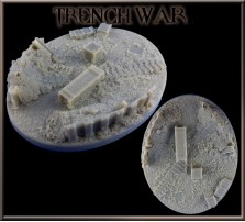 120 x 92mm Trench War Oval Base A
