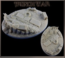 120 x 92mm Trench War Oval Base B
