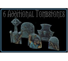 Ghostly Graveyard Tombstones - Set of 6
